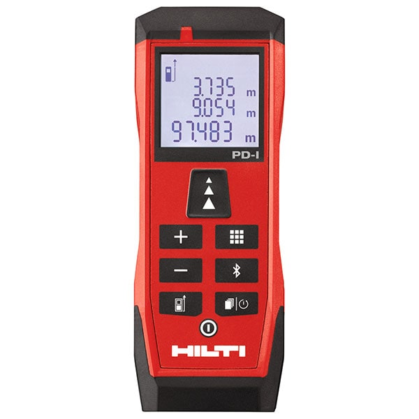 Hilti laser range meter with Bluetooth, painter's area, Pythagoras, volume and stake-out functions