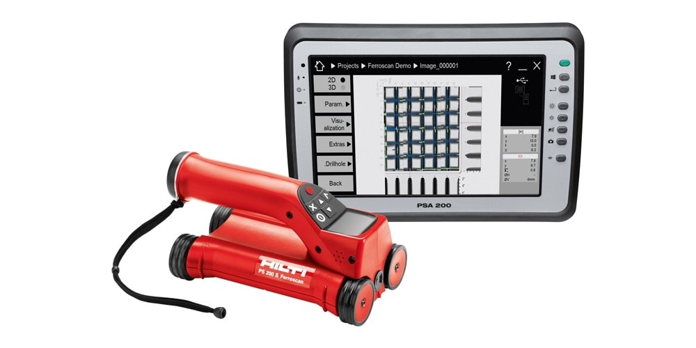 Hilti PS 250 Ferroscan System and PSA 200 Tablet