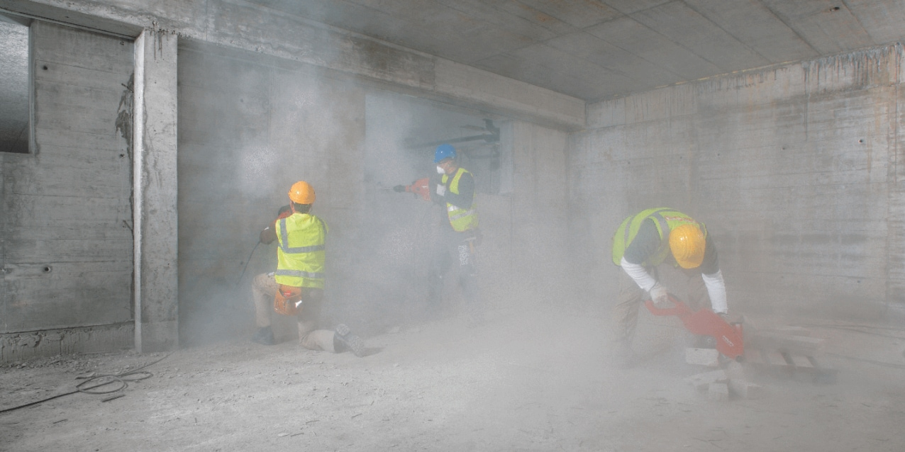 Dust control in construction