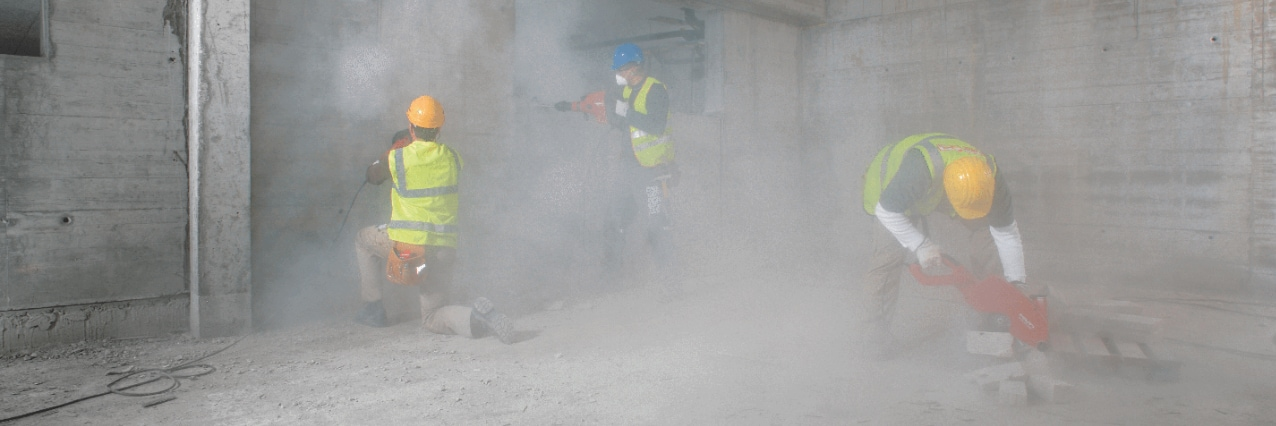 How can you avoid silica dust?