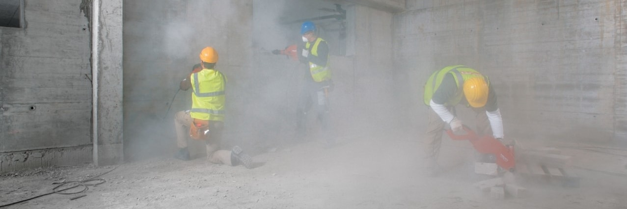 Dust is one of the biggest potential hazards on a job site.