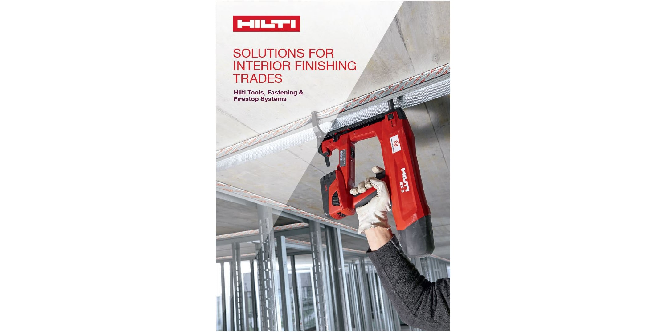 Hilti Solutions for Interior Finishing Trades