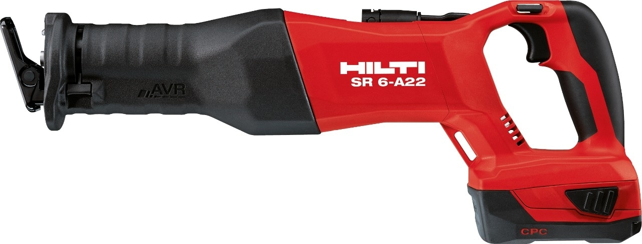 SR 6-A22 cordless reciprocating saw with tethering point