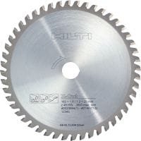 Stainless & steel cutting Ultimate circular saw blade for straight, fast, cold cutting in stainless steel and extra life in other metal