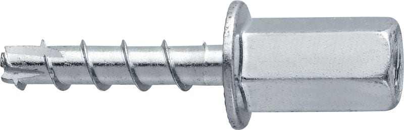 HUS3-I 6 Standard screw anchor with internally threaded head (carbon steel)
