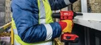 RT 6-A22 Cordless rivet tool 22V cordless rivet tool powered by Li-ion batteries for installation jobs and industrial production using rivets up to 4.8 mm in diameter (up to 5.0 mm for aluminium rivets) Applications 1