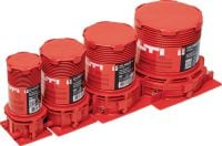 CP 680-P Cast-in device One-step firestop cast-in solution for pipe floor penetrations. Place it and forget it