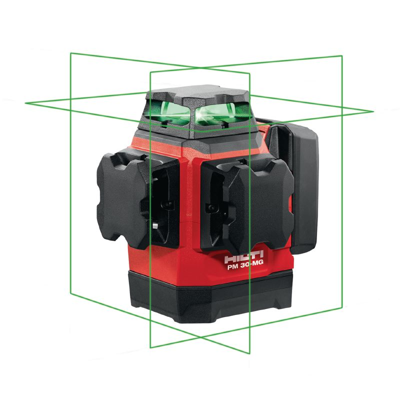 PM 30-MG Multi-line laser Multi-line laser with 3 green 360° lines for plumbing, levelling, aligning and squaring