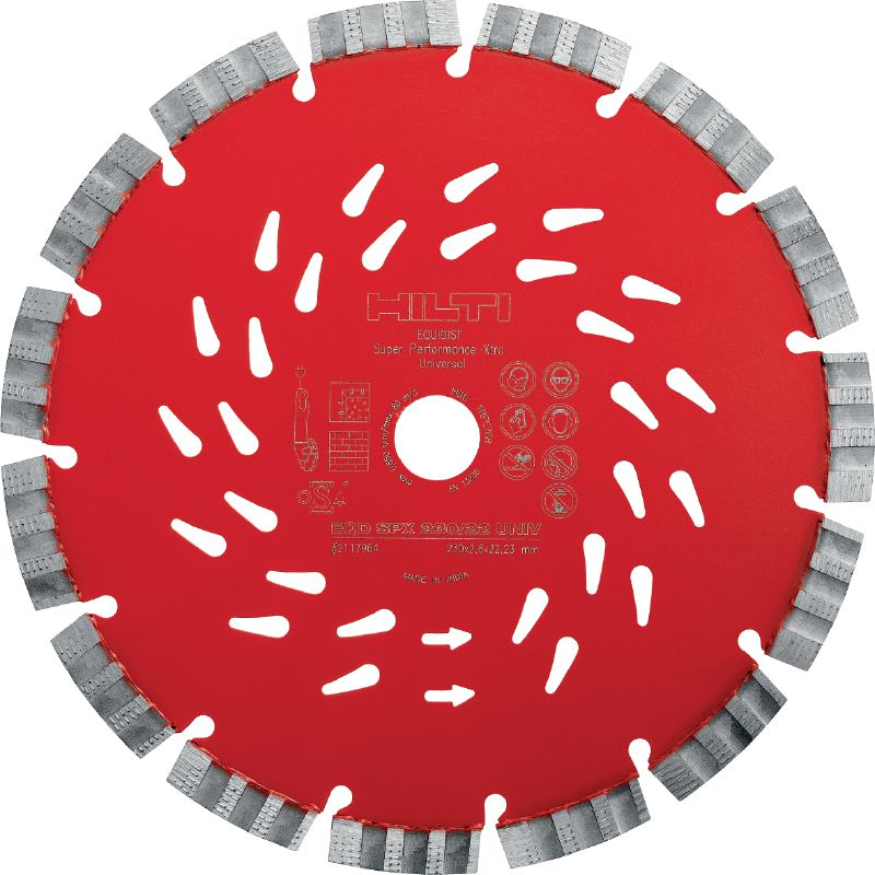 SPX Universal Ultimate diamond blade with Equidist technology for superior cutting in different base materials