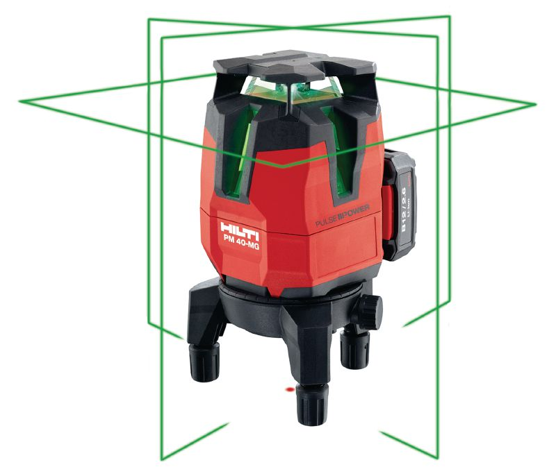 PM 40-MG Multi-line laser Multi-line laser with 4 lines for plumbing, levelling, aligning and squaring with green beam