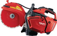 DSH 600-X Compact and light top-handle 63 cc gas saw with blade brake – cutting depth up to 120 mm with 300 mm blades