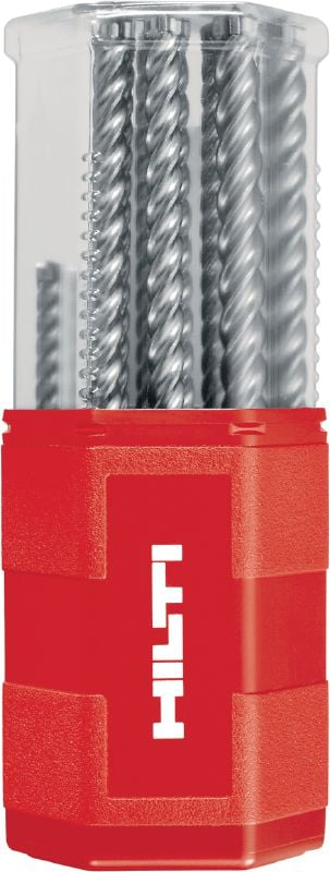 TE-CX (SDS plus) metric Ultimate SDS plus (TE-CX) hammer drill bits set with 4 carbide cutting edges