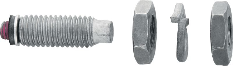 S-BT-EF Threaded screw-in stud (HDG carbon steel, whitworth thread) for electrical connections on steel in mildly corrosive environments