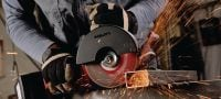 AG 150-A36 Cordless angle grinder Powerful 36V cordless angle grinder (brushless) for cutting and grinding with discs up to 150 mm Applications 1