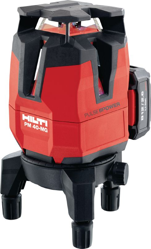 PM 40-MG Multi-line laser with 4 lines for plumbing, levelling, aligning and squaring with green beam