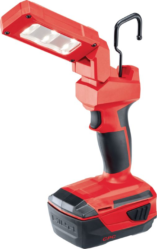 SL 2-A22 Cordless 22V LED task light with flexible head for illuminating confined and medium-sized work areas