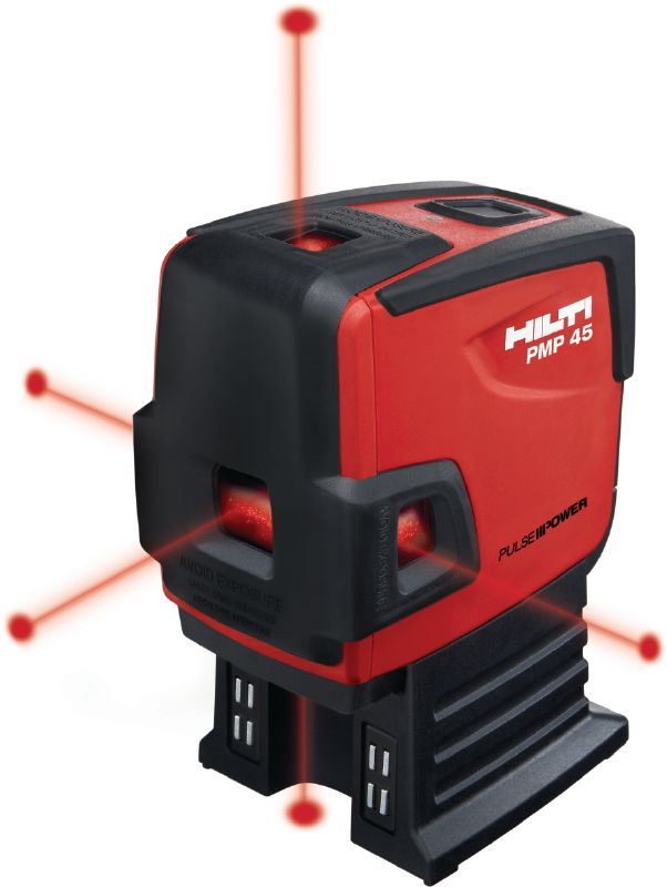 PMP 45 Point laser Compact five-point laser for plumbing and squaring applications