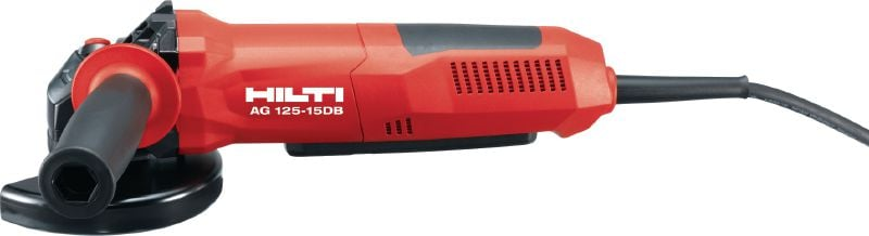AG 125-15DB Angle grinder Powerful 1500 W corded angle grinder for maximum safety with dead man's switch and disc brake for all cutting and grinding applications using discs up to 125 mm