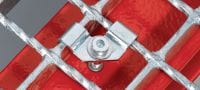 X-FCI-M Grating fastener saddle for use with threaded studs in mildly corrosive environments Applications 2