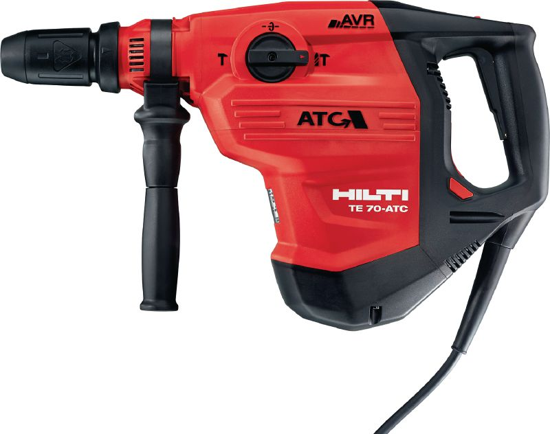 TE 70-ATC/AVR Rotary hammer Powerful SDS-max combihammer with Active Vibration Reduction and Active Torque Control for heavy-duty drilling and chiselling in concrete