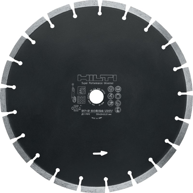SP Universal diamond blade Premium diamond blade for cutting in multiple base materials