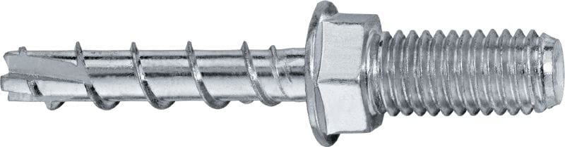 HUS3-A 6 Standard screw anchor with externally threaded head (carbon steel)