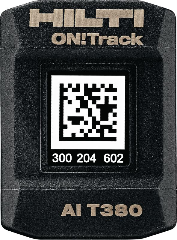 AI T380 Robust smart tag to connect construction equipment with the Hilti ON!Track asset management system – simplifying the inventory process and tracking all your tools/equipment