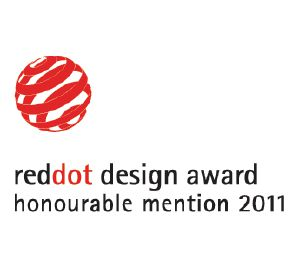 "This product was awarded ""Honourable Mention"" by the Red Dot Communication Design Award"